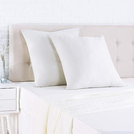 AmazonBasics - Funda de almohada de satén - 65 x 65 cm x 2 ...