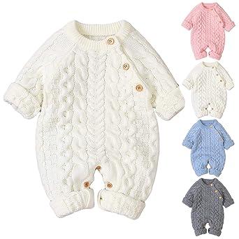 Haokaini traje de nieve de punto para bebé recién nacido ...