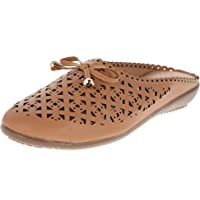 KICK Women Brown Soft Comfortable Mules/Mules for Women
