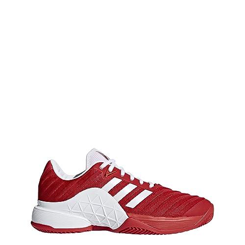 Adidas Barricade 2018 Clay, Zapatillas de Tenis para Hombre, Rojo (Ftwbla/Escarl 000), 50 EU: Amazon.es: Zapatos y complementos