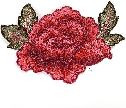 Mode Kleidung Dekor Handgefertigt Blumenaufnäher DIY Stickapplikationen Nähen