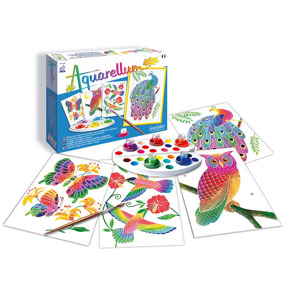 Sento Sphere SEN668A Artistic Junior Watercolor Art Kit with 4 magic canvases In The Park 3900668