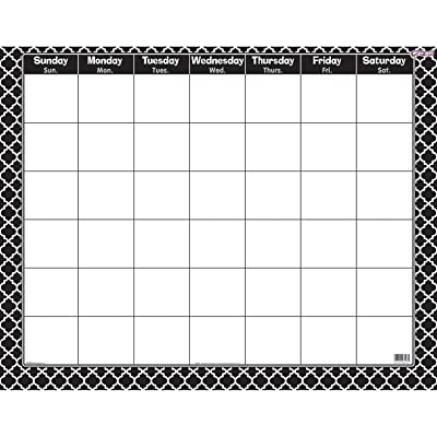 Trend Enterprises Inc. Moroccan Black Wipe-Off Calendar, Monthly: Toys & Games