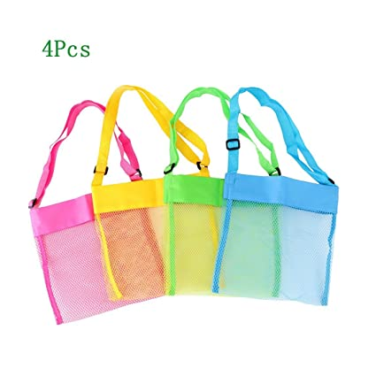 62d8f011c9ac Amazon.com  Zamango 1 Beach Mesh Tote Breathable Sea Bags with ...