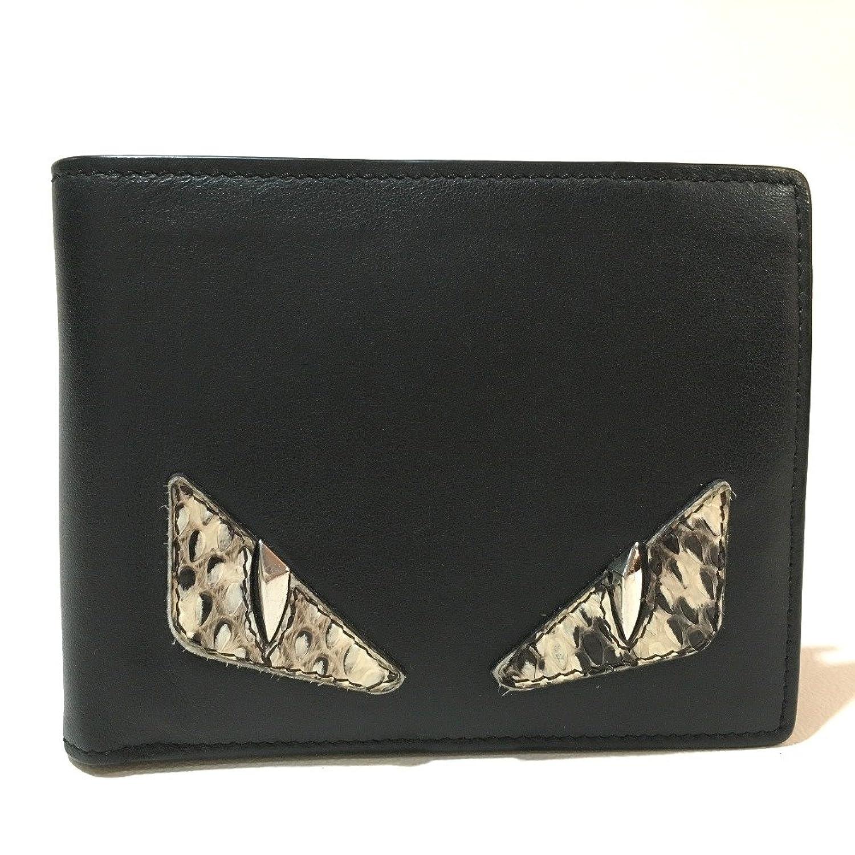 (フェンディ) FENDI 7M0001    モンスター バッグバグズ 財布 メンズ レディース 二つ折り財布(小銭入れあり) パイソン×レザー ユニセックス 中古 B07DWNMKN5