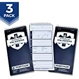 """EMT/First Responders Vital Statistics Notebook – 8"""" x 4"""" Medical Notebook for Vital Signs and Additional Patient Information – 140 Pages (3 Pack)"""