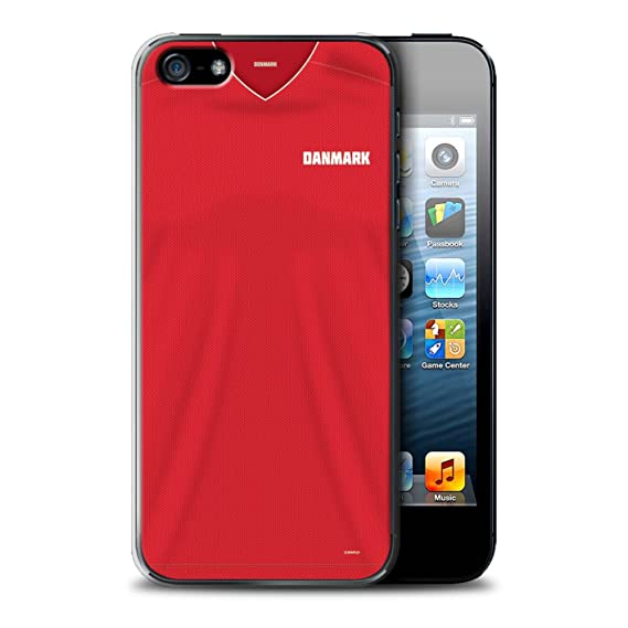 size 40 b7a00 f3c5e STUFF4 Phone Case/Cover for Apple iPhone SE/Denmark/Danish Design/World Cup  2018 Football Shirt Collection