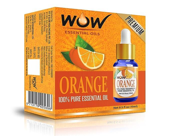 WOW Essential Orange Oil - 45 ml (Pack of 3)