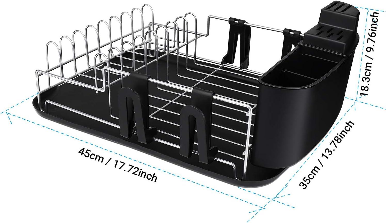 Amazon.com: Alvorog - Escurridor de platos de gran capacidad ...