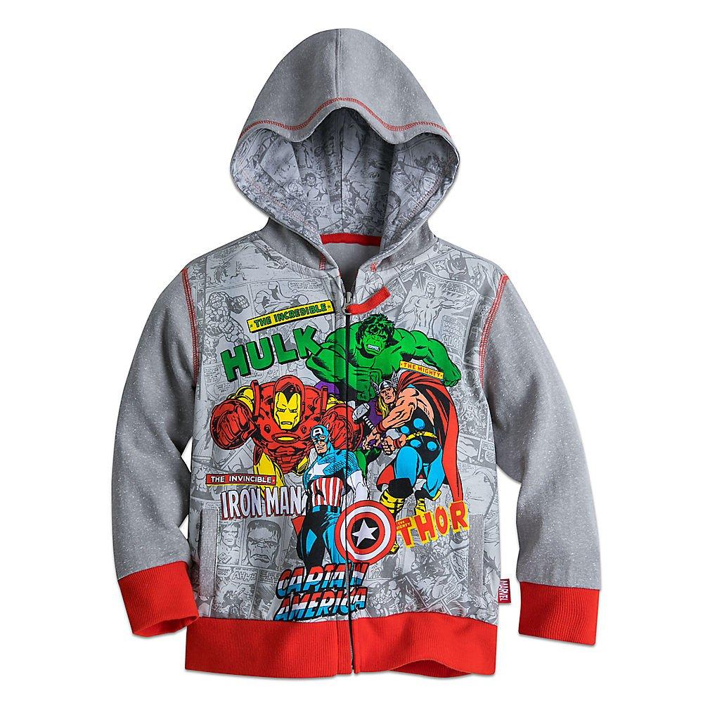 Marvel Avengers Zip Hoodie for Boys Size 5/6 Gray