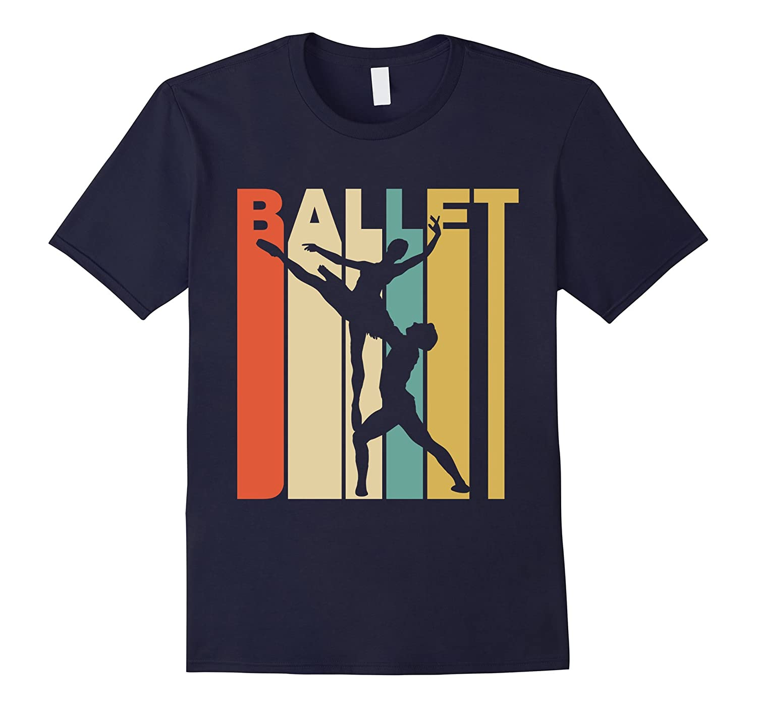 a9d56fc0f Vintage Style Ballet Silhouette T-Shirt-ANZ - Anztshirt