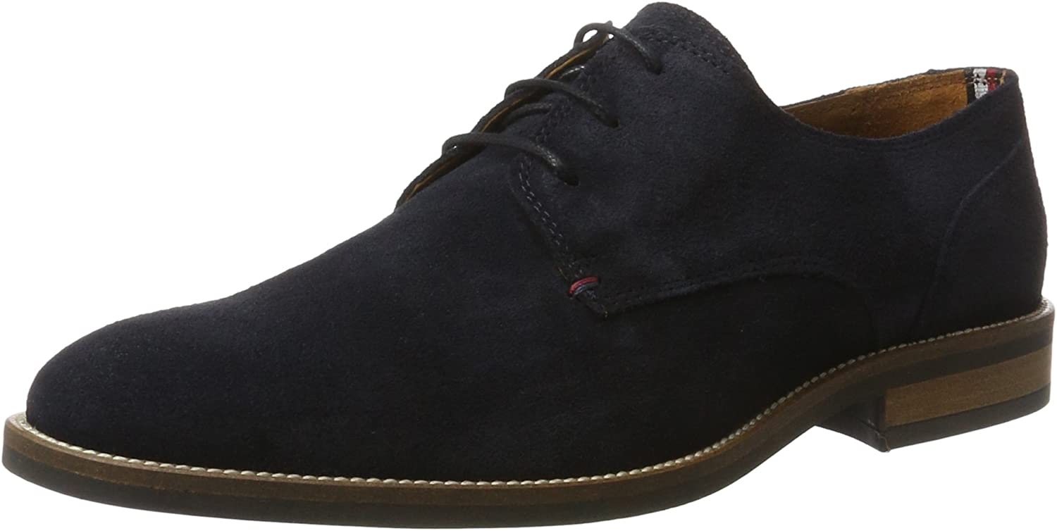 TOMMY HILFIGER Essential Suede Lace Up Derby, Zapatos de Cordones Hombre