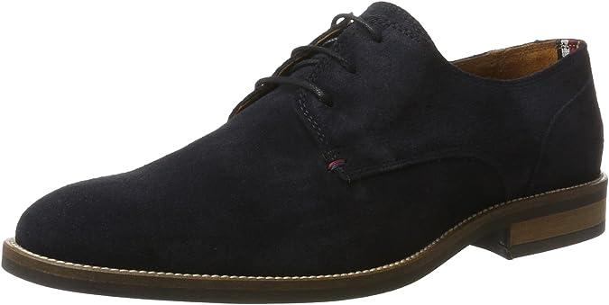 Tommy Hilfiger Essential Suede Lace Up Derby, Zapatos de Cordones Hombre