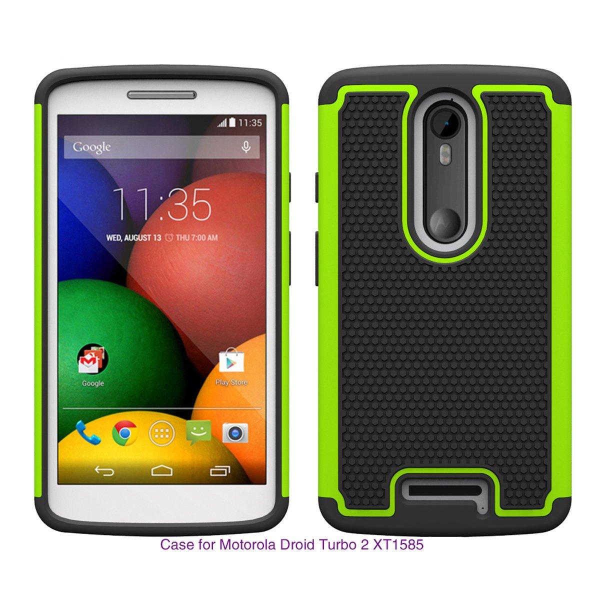 BasicStock Motorola Moto Droid turbo 2 XT1585 Case, Protection Slim Case Premium High Impact Dirtproof Shockproof Protective Defender Cover Case for ...