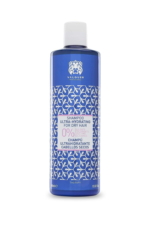 Válquer Profesional Champú Ultrahidratante Zero % sin sal, sin sulfatos, sin parabenos y sin Siliconas. Cabellos secos - 400 ml