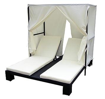 HeavenRotin Baidani NoirJardin Double Chaise Longue rdtsChQx