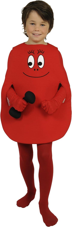 joker C568 002 Barbapapà Barbaforte Costume di Carnevale, in Busta, Rosso