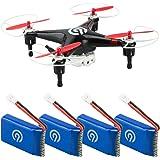 4x Original NINETEC 700mAh Ersatz Akku Batterie für Spyforce1 Video Drohne