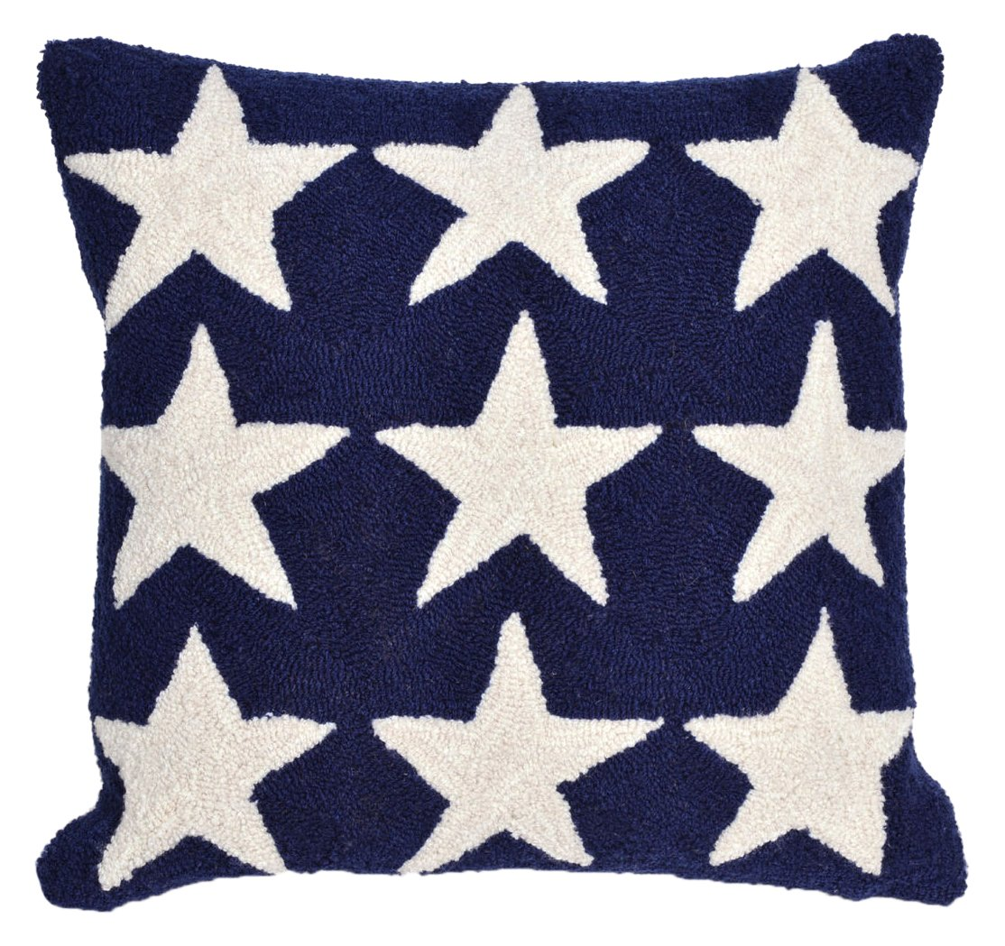 "Liora Manne Whimsy Spangle枕、18 "" x 18インチ、ブルー B01C08O5L4"