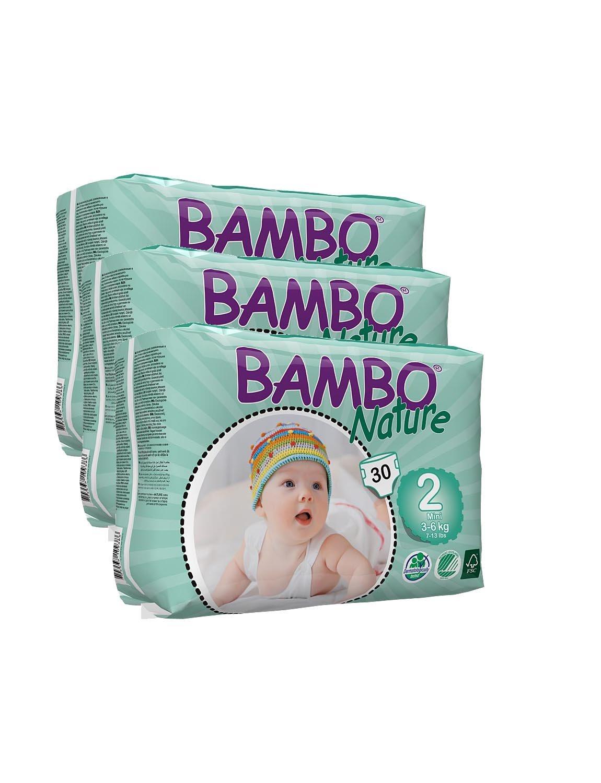 Con diseño de con sistema de frío con forma de 3 Bambo pañales de (tamaño de la funda de 2) 90 pañales de: Amazon.es: Bebé