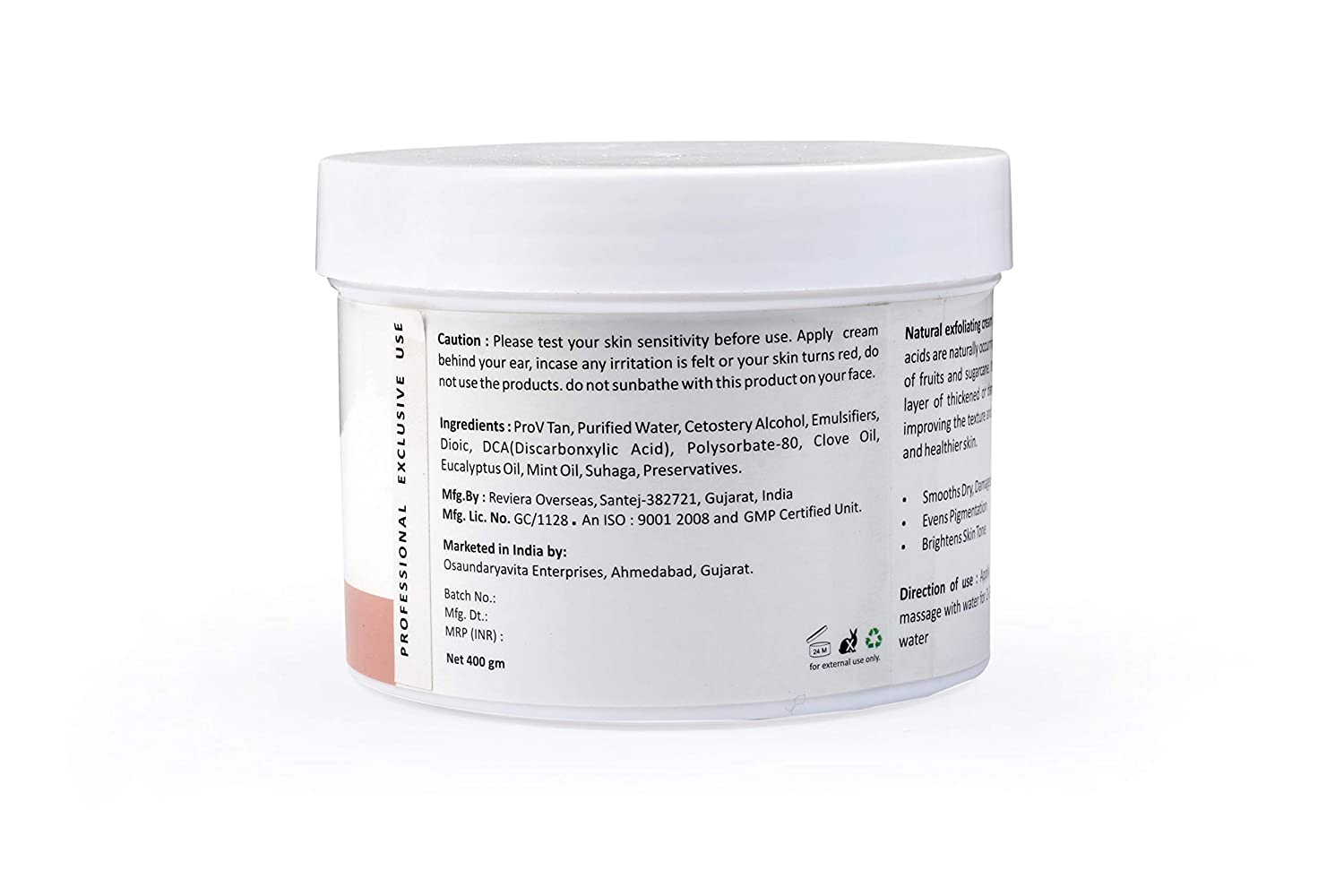 Le Bonheur   Reversion Tan Removal and Skin Lightening Natural Exfoliating  Cream (400 g)