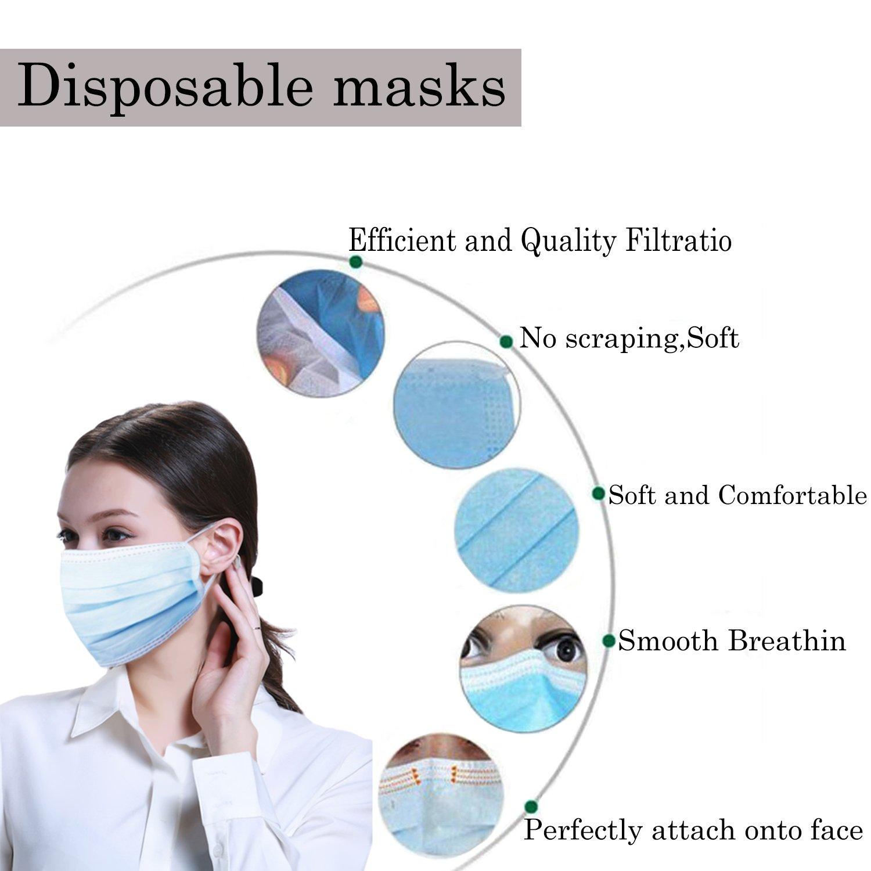 Amazon.com: Máscaras desechables de gripe quirúrgica, 3 ...