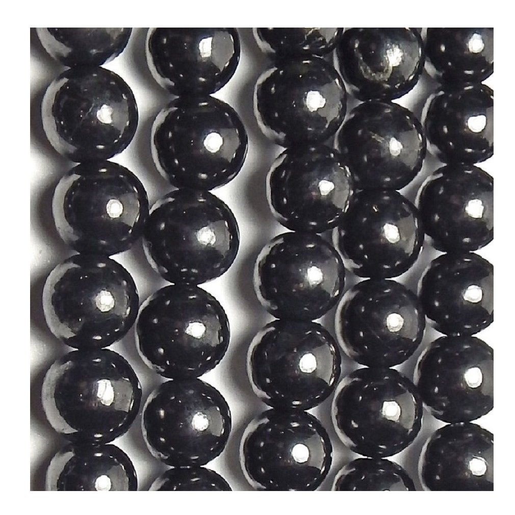 Shungite Beads Set (10 Pcs), 6 mm, 8 mm, 10 mm, 12 mm by Karelian Heritage Company 12 mm. (10) S146