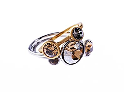 b4142719826317 Ted Baker Jewel Stack Ring Rose Gold Multi Neutrals - Size O M L   Amazon.co.uk  Jewellery