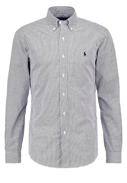 73a9e55b0 Ralph Lauren Camisas Camisa a cuadros negro  Amazon.es  Zapatos y  complementos