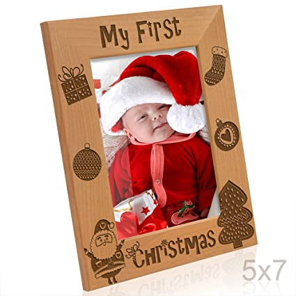 Amazon Kate Posh My First Christmas Picture Frame 5x7