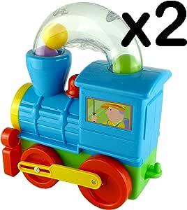 Pelota soplando tren juguete – Push Along juguete para niño Talla:pack de 2: Amazon.es: Bebé