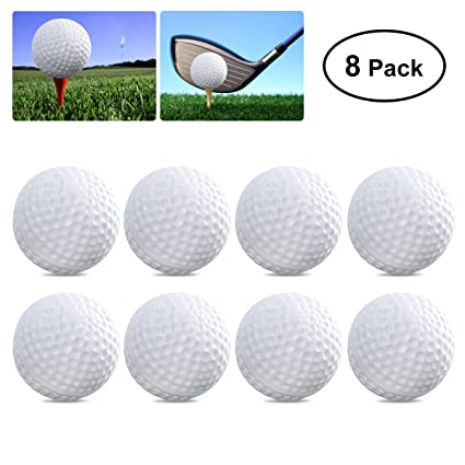 toymytoy  : TOYMYTOY 8pcs Plastic Golf Balls Game Toy Balls Indoor ...