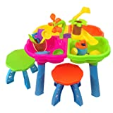 Sand and water play table 4 in 1 with loads of great accessories and 2 stools