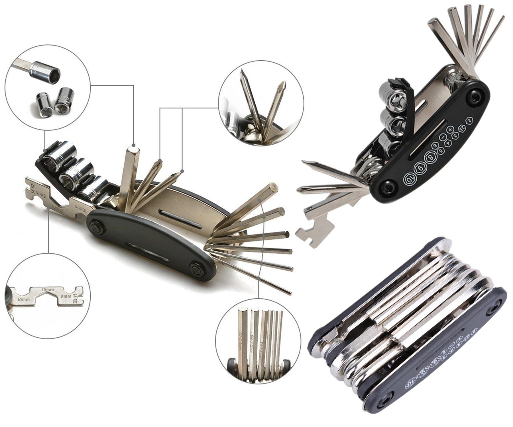 Bicycle repair kit, bicycle tool kit,bicycle tools,bicycle tool bag with tools,bicycle tool repair kit,tools for bicycles,bicycle tool kit with bag by bicycle kits (Image #2)