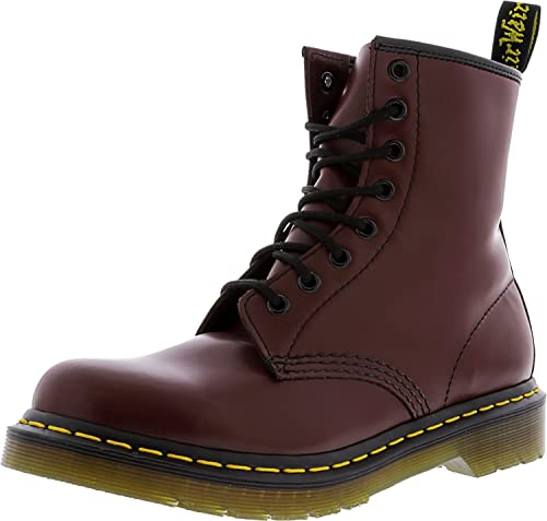 8 DrMartens Red Boot 7 Eye Womens 1460 ymOvN80nw