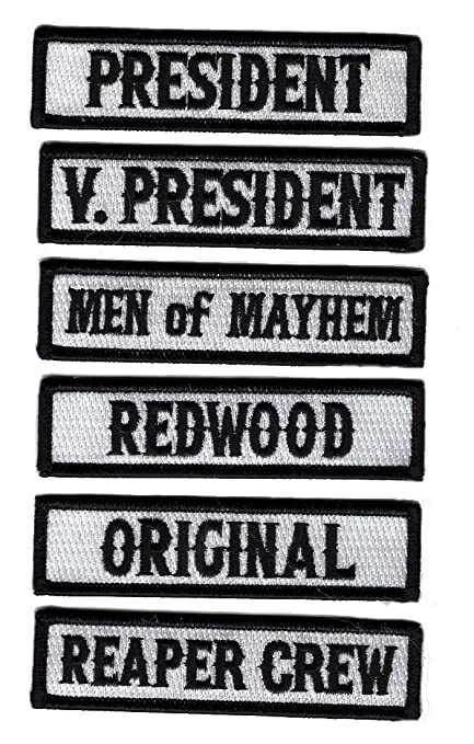 SON OF OUT LAW MC CLUB OFFICER TITLE 6 PC BIKER MC PATCH