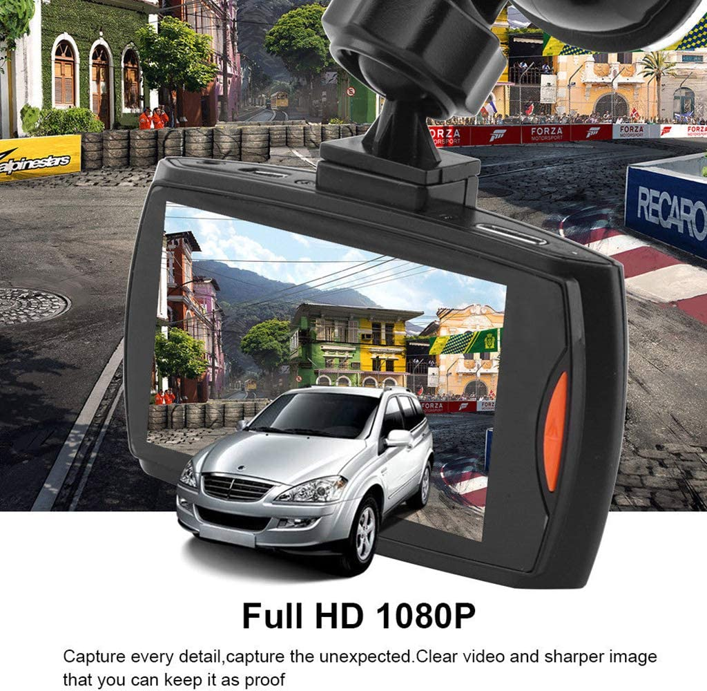 1080p 2.7in Monitor Stationnement Enregistrement en Boucle Vision Nocturne Dash Cam/éra Embarqu/ée H HILABEE FHD Dashcam Cam/éra de Voiture avec 140/°Angle