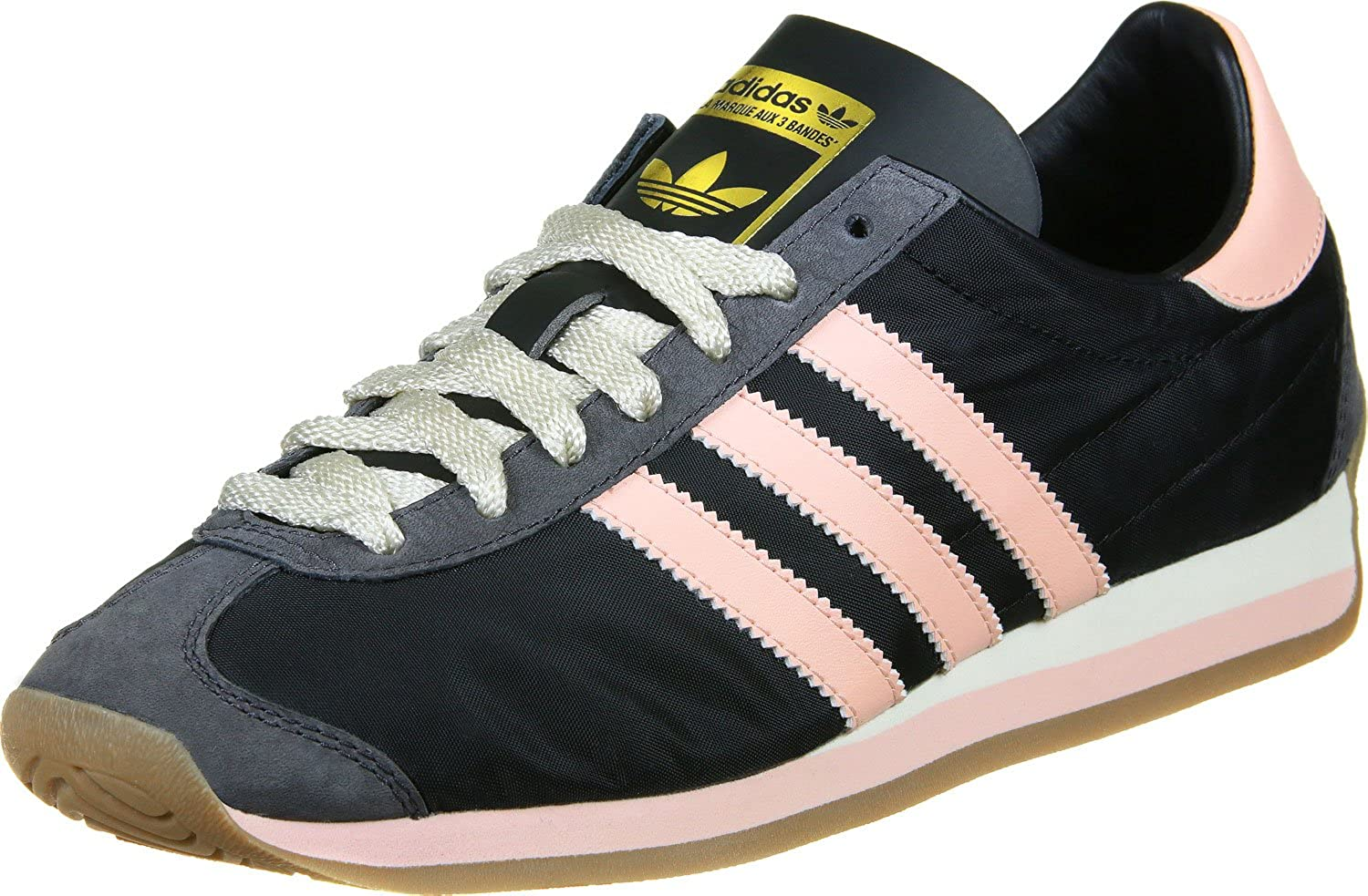 Amazon.com | adidas Originals Country OG Womens Trainers Sneakers Shoes (US 6, Black Pink Gum S32203) | Fashion Sneakers