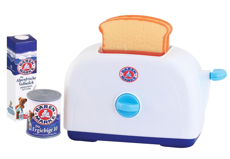 Kinder Toaster - Bärenmarke Toaster mit Toast, Milchdose und -tüte - Spielzeug Toaster