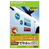 エレコム 手作りステッカー マグネットタイプ A4サイズ 2枚入り ホワイト EDT-STMGW