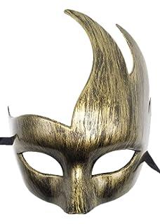 Coolwife Máscara de la Mascarada Veneciana para Hombre Diseño clásico Prom Mardi Gras Máscaras (Oro