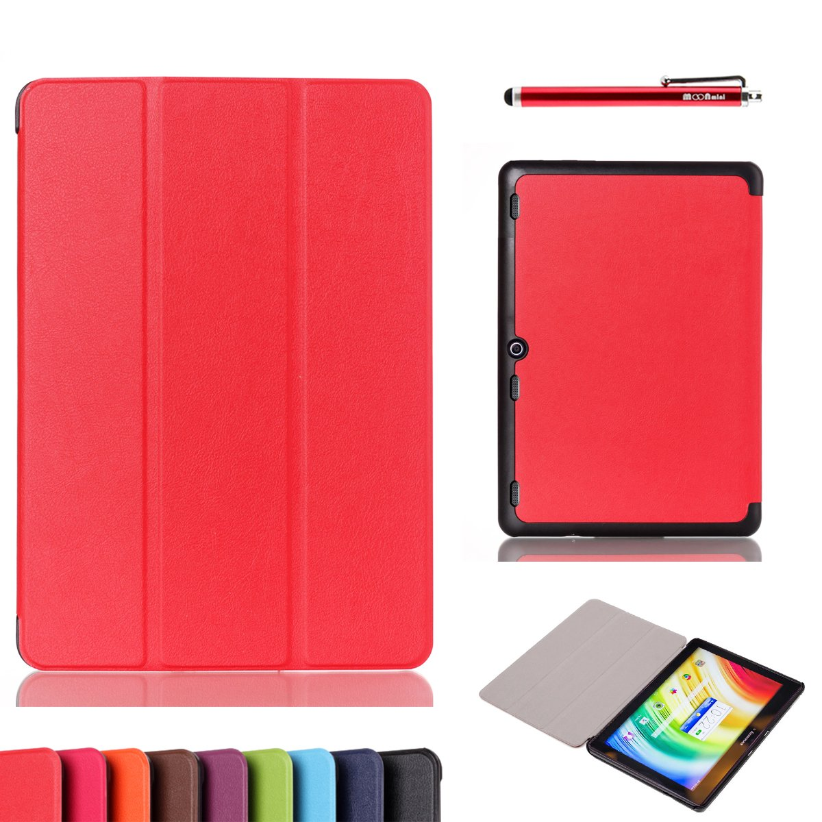 - Backcover Leather Cover Wallet Style Flip Cover Case For ONLY (Cover Red)