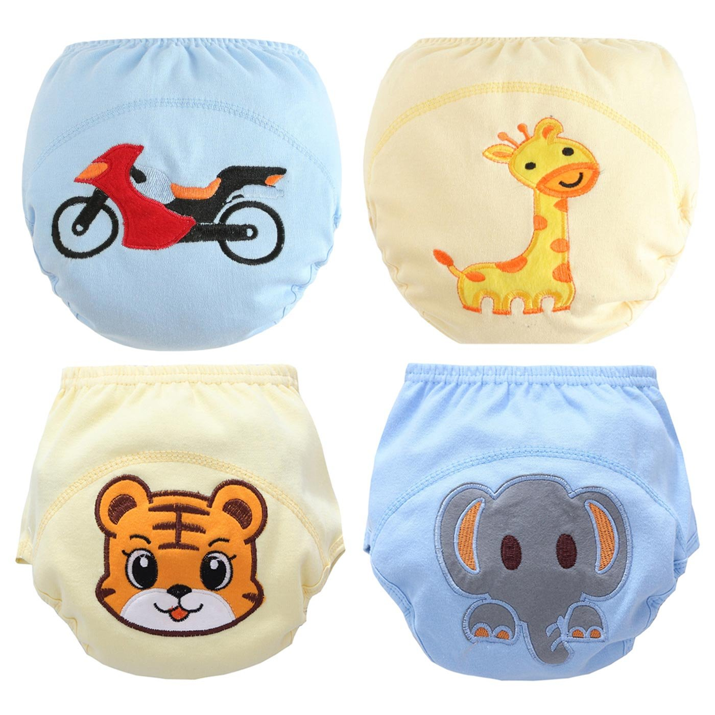 Toddler Soft Toilet Training Pants Baby Boy Cute Elephant Diaper Underwear 4 Pack HANIBEIWA JWBK0469