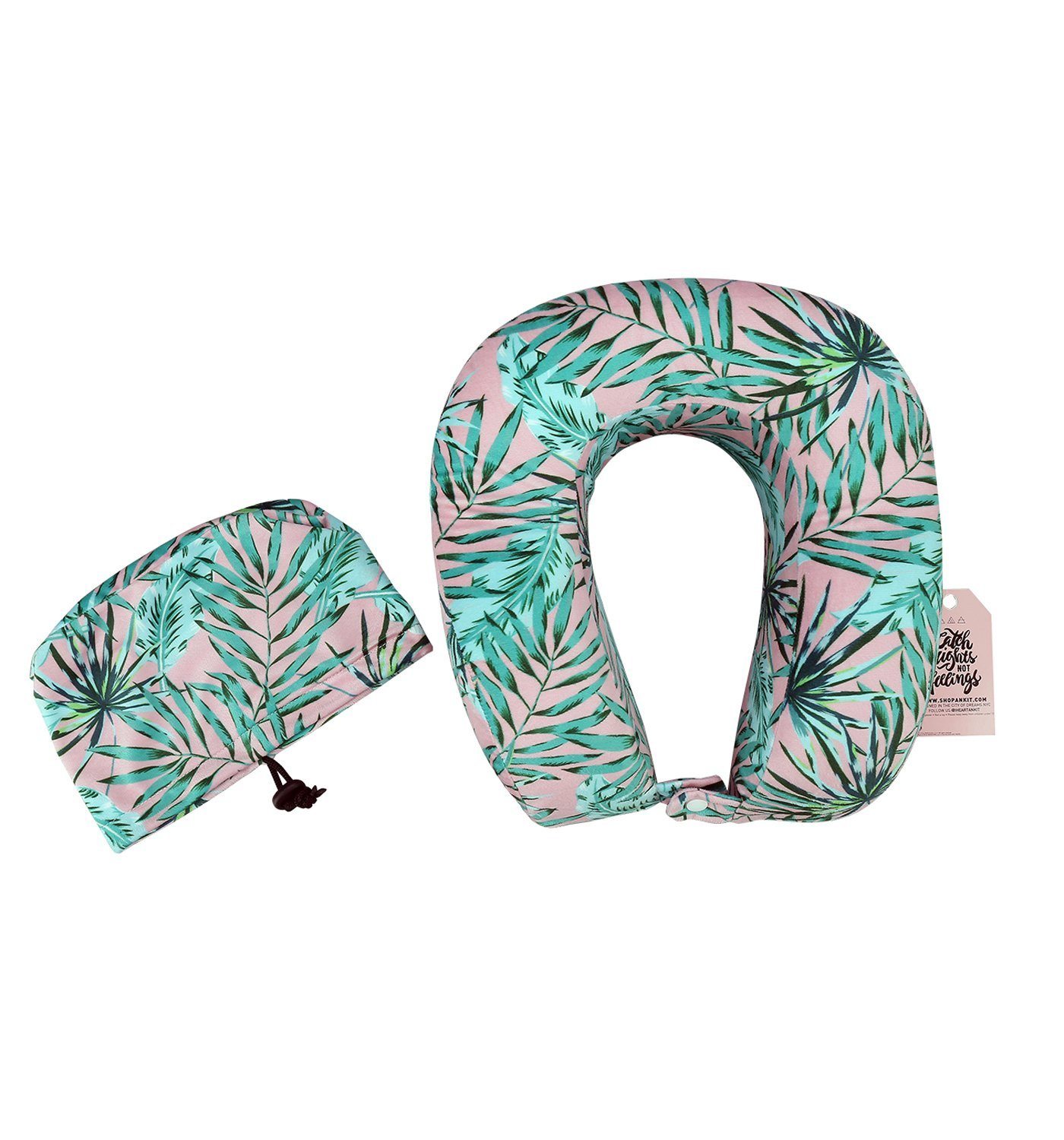 ANKIT Travel Pillow for Airplanes - Soft Ergonomic Travel Cushion for Neck Support Easy to Carry Cool Travel Accessory