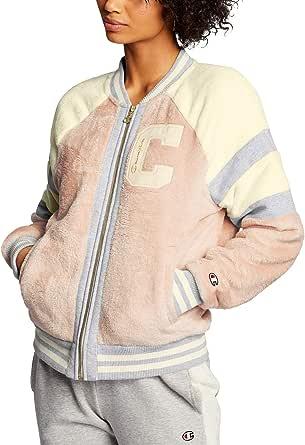 Champion Life Womens JL413550297 Super Fleece Faux Fur Jacket - Felt C Fleece Jacket - Pink - Medium