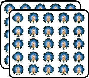 Praying Hands Label Religion Art Decor Sticker for Scrapbooking, Calendars, Arts, Kids DIY Crafts, Album, Bullet Journals 50 Pack