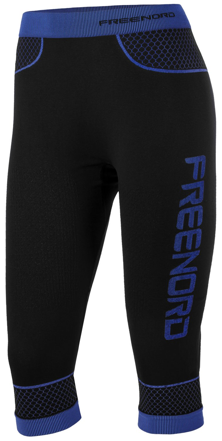 Freenord Fittech Active Damen Thermoaktiv Leggings Legins Strumphose Collant Laufhose Sporthose 3/4  Fitness Pilates Outdoor Radsport Running
