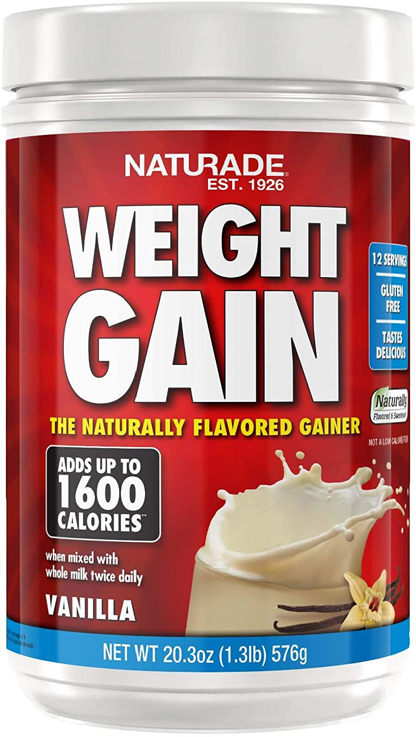 Naturade Weight Gain Instant Nutrition Drink Mix, Vanilla ,20.3 Ounce: Health & Personal Care