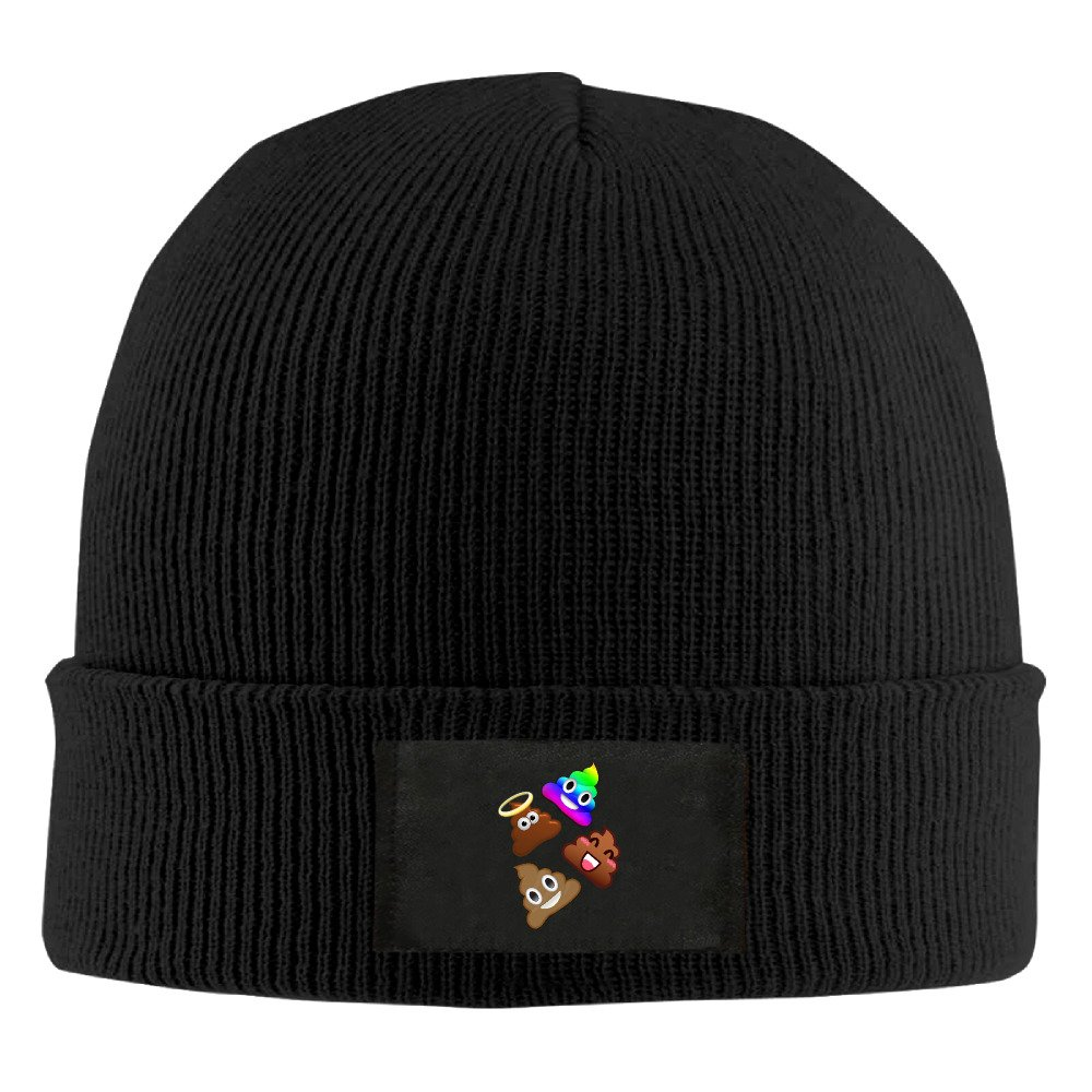 Unisex We Are Shit Poop Acrylic Beanie Hats Black