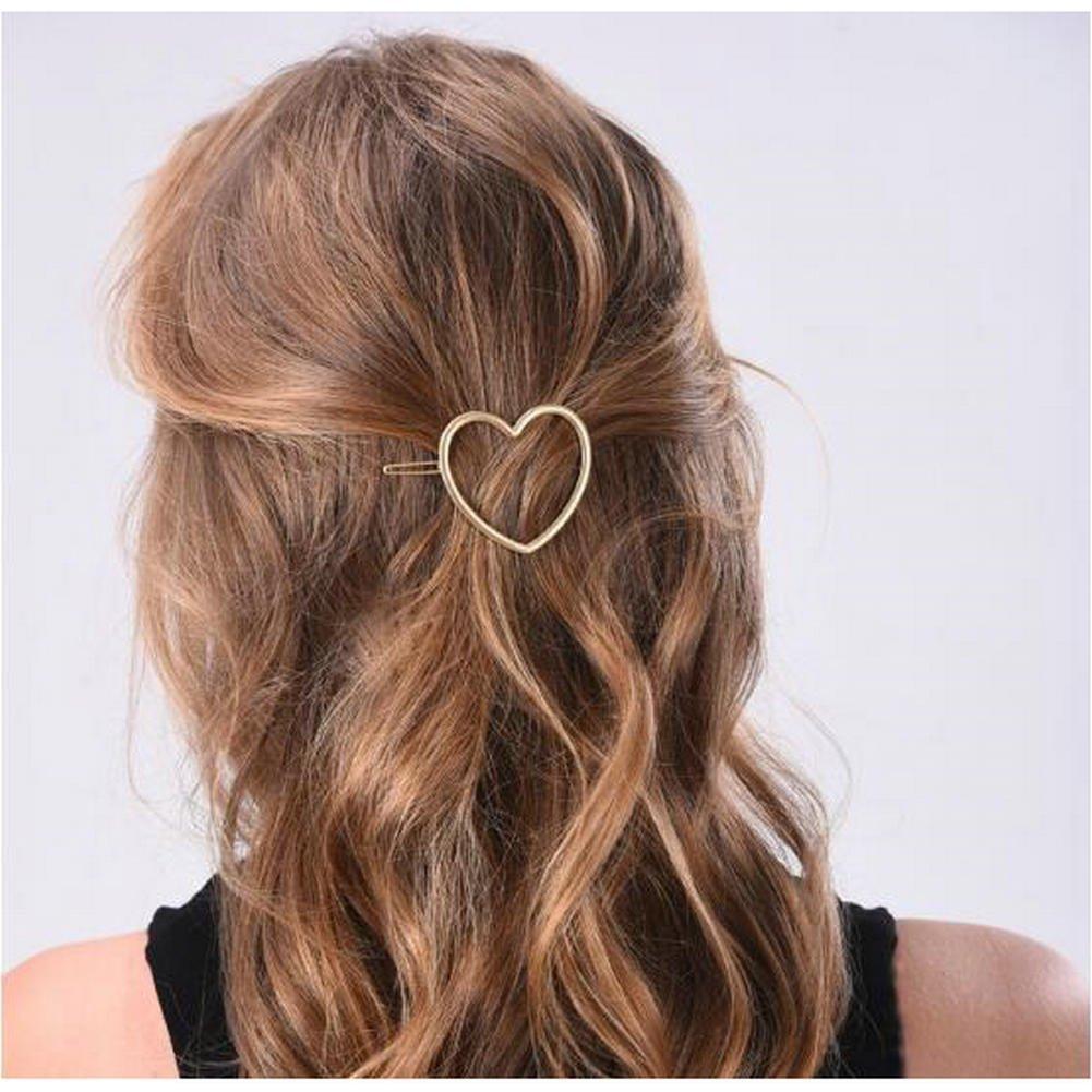 Amazon.com : Joyci 1Pcs Women's Metal Heart Hair Pin Ponytail Hair Clip  Creative Bobby Pin (Gold) : Beauty